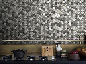 Kitchen Backsplash with Glass Mosaic Tile
